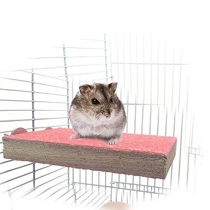 Percha de madera para jaula de mascotas, conejos, periquitos ...
