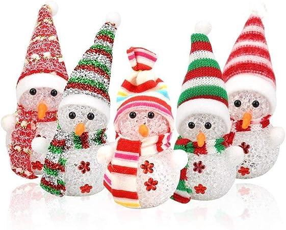 Set de decoración de Halloween Navidad muñeco de Nieve Poca luz de ...