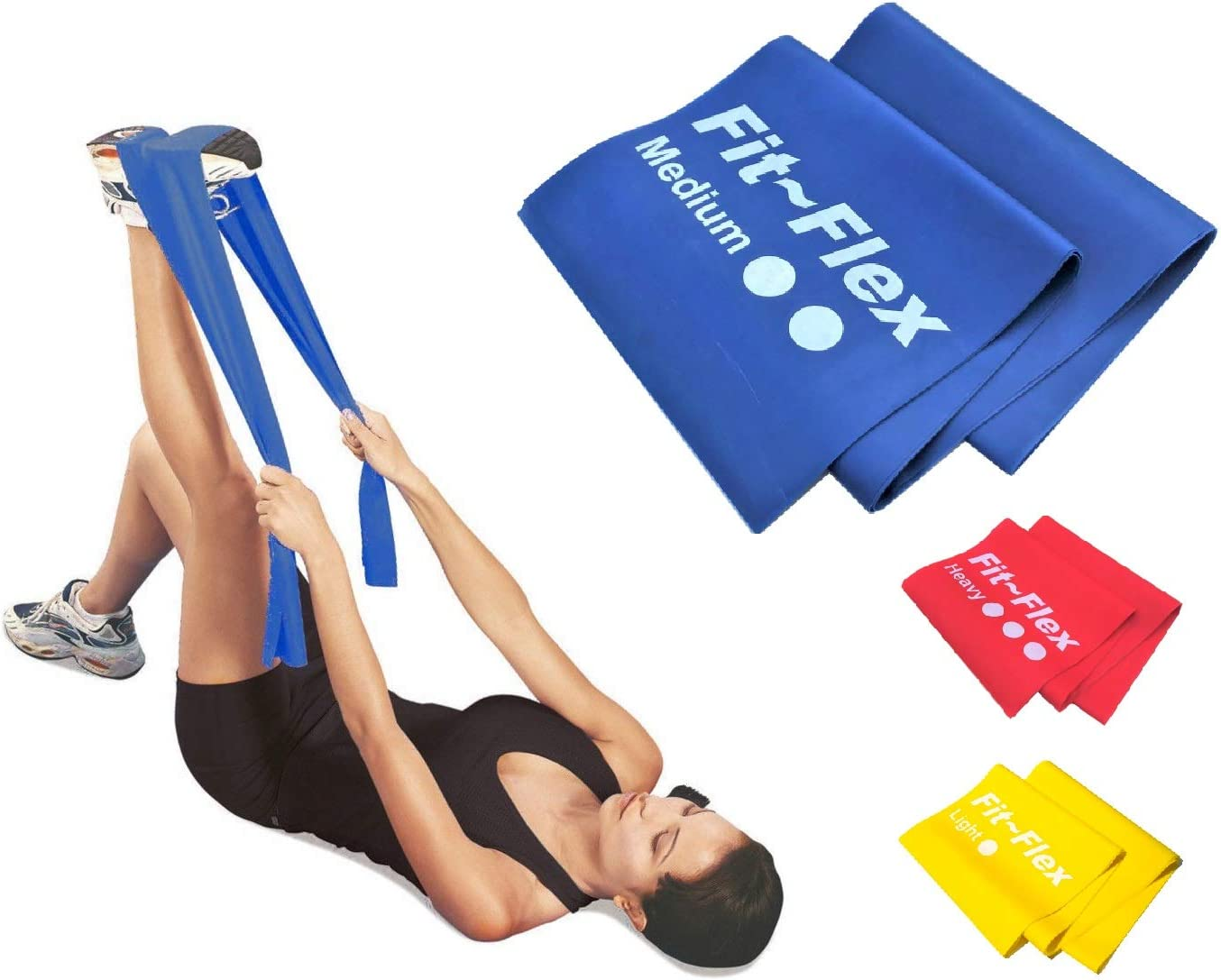 Blue Resist-a-Band By the Foot Therapy Resistance Exercise Blue Theraband