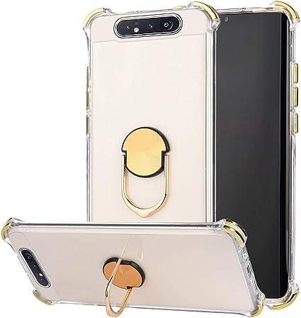 JAWSEU Compatible con Samsung Galaxy A80/A90 Funda con Soporte de ...