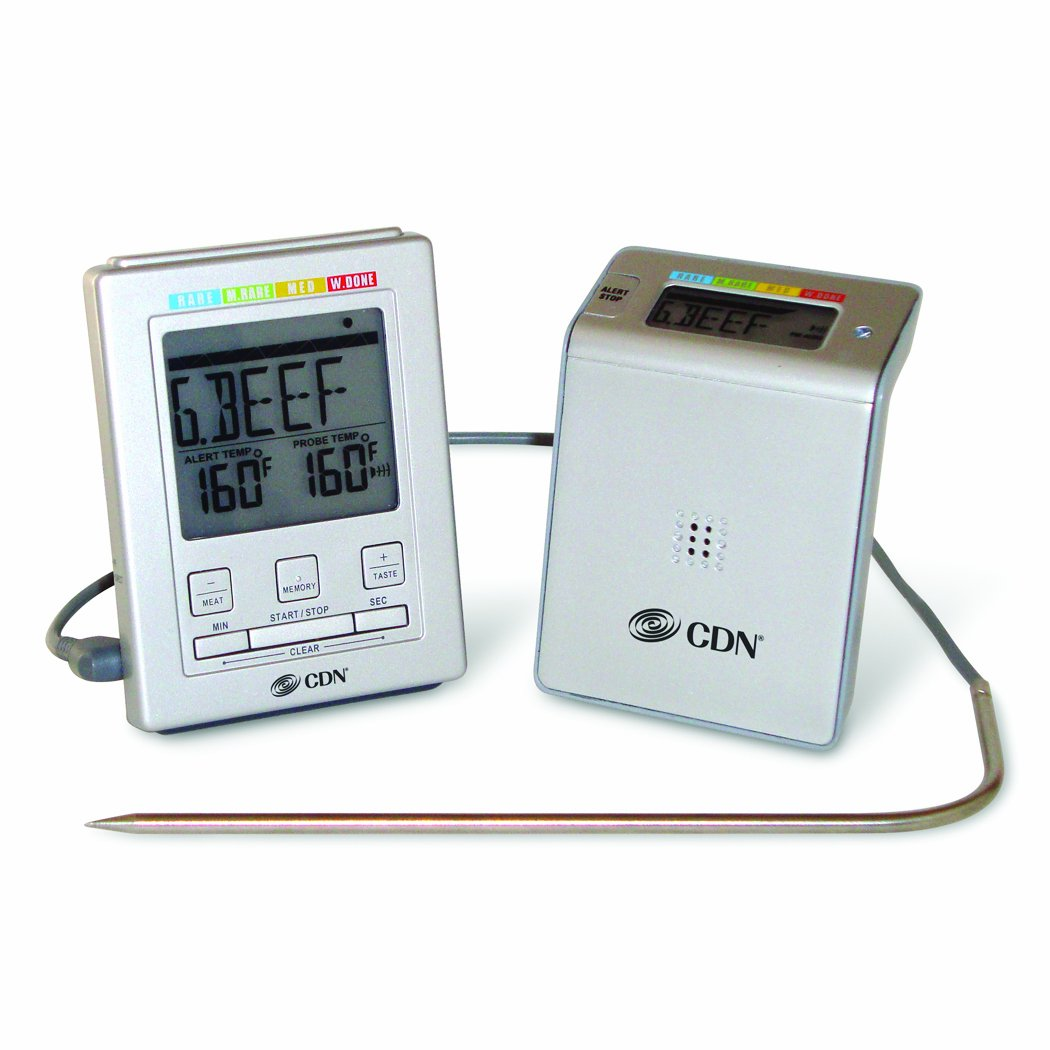 Amazon.com: CDN WT2 Wireless Probe Thermometer and Timer: High Heat ...