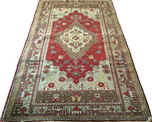 Vintage Handwoven Area Rug Carpet 6.56 x 3.64 ft.