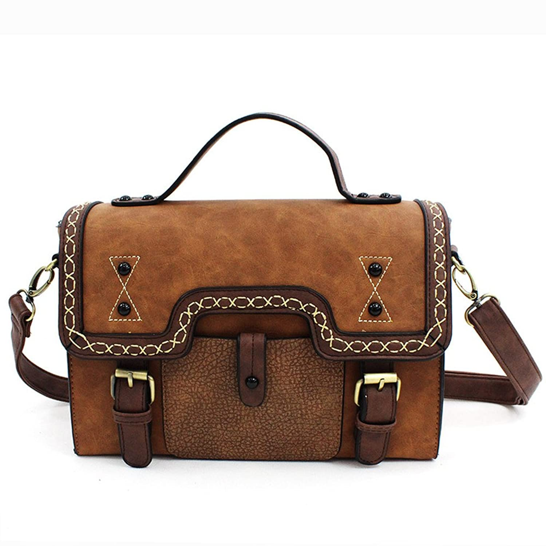 BAOSHA CS-02 Women's PU Leather Messenger Shoulder Bags Crossbody bag Purse Handbag