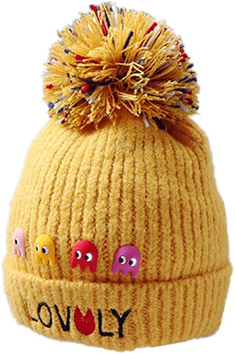 Mitlfuny Sombreros de bebé Unisex Pulpo Dibujos Animados Gorro de Punto  Carta Bordado Invierno Grueso Caliente Bola de Pelo Colorido Beanie Gorras  de Lana ... 9c52b8d7de7