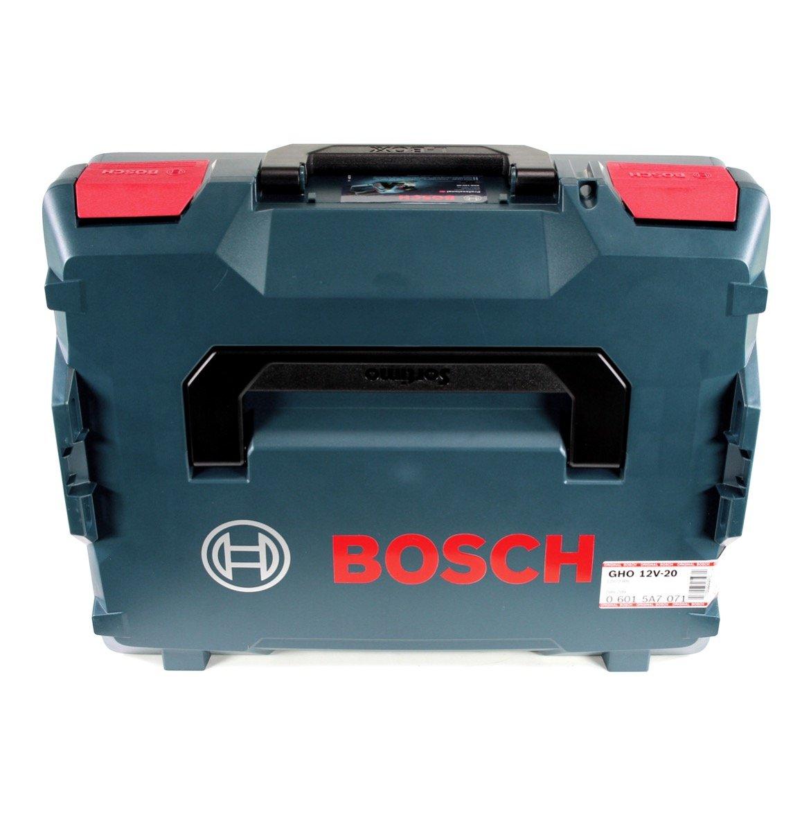 1x GBA 12 V 3,0 Ah Akku Bosch GHO 12V-20 Akku Hobel Professional in L-Boxx GAL 1230 CV Schnell Ladeger/ät