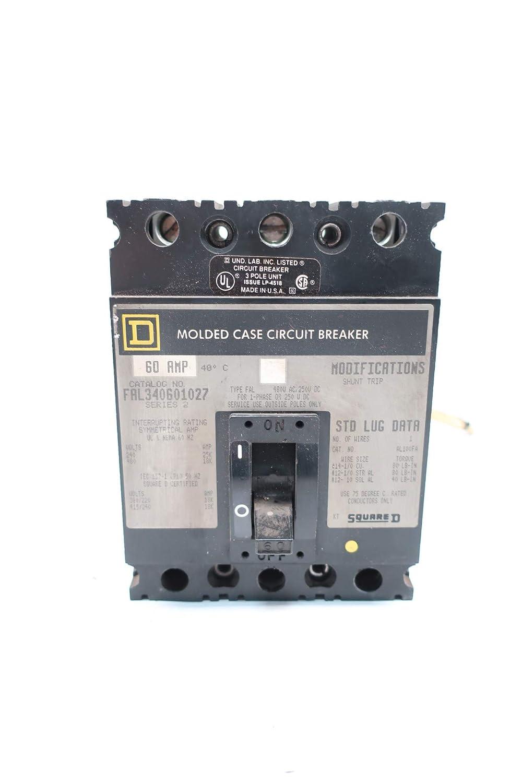 SQUARE D FAL340601027 3P 60A 240//480V-AC Circuit Breaker