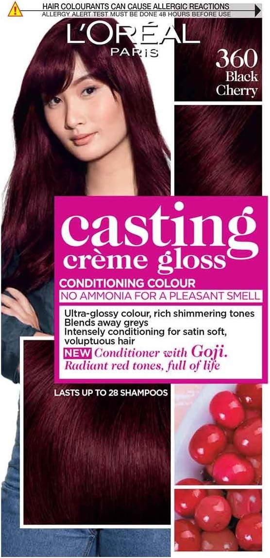 L Oreal Casting Crème Gloss Black Cherry Shade 360 Color de pelo