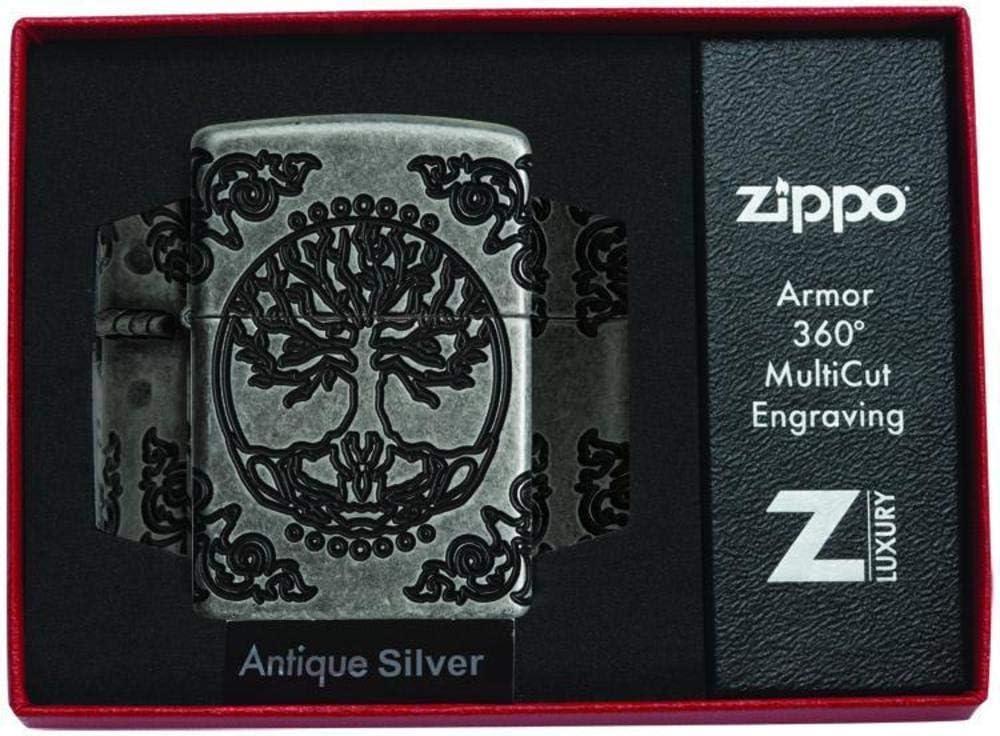 Zippo Tree of Life Encendedor Resistente al Viento, Unisex Adulto ...