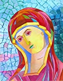 Holy Mary religious icon Virgin Mary painting Our Lady handpainted Madonna artwork READY TO HANG