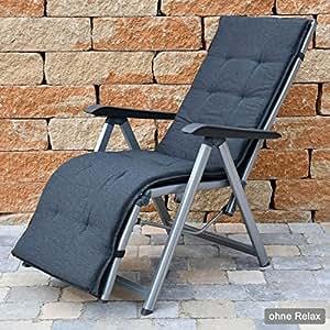 Cojines para relajarse 160x 48cm Sun Garden rústico 50318-701en antracita sin sillón