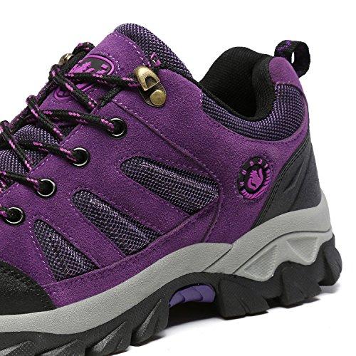 Alexis Leroy polideportivas - Zapatillas de correr en montaña para mujer Púrpura