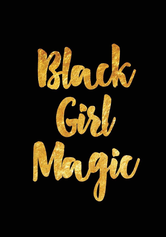 Amazon Com Black Girl Magic Gold Textured Notebook Journal