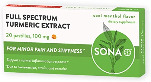 SONA Turmeric Supplement, High Absorption Curcumin Formula, 6 Boxes of 20 Pastilles Each 120 Total