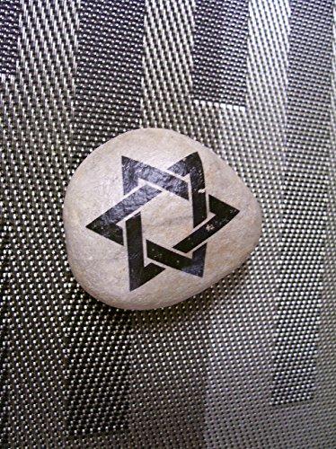 Judaica Stone stone Rock Star of David Magen David