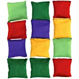 Halloluck 12 Pack 2 inch Nylon Bean Bags Children Family Adults Outdoor Yard Games Bean Bag Toss Carnival Toy Bean Bag…