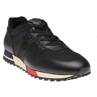 da8ea3dfff Amazon.com: Hogan Sneaker Logo Mens Sneakers Black: Clothing
