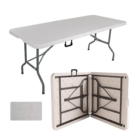 Janoon - Mesa de jardín Plegable de 1, 8 Metros para cenas y ...