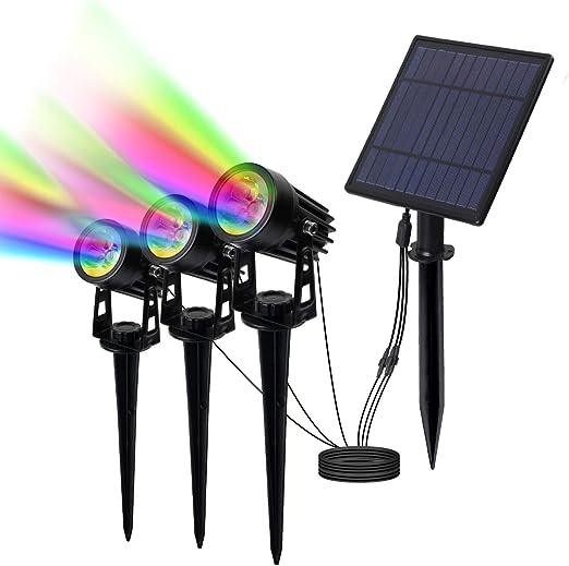 T-SUN led proyector Solar Exterior, Foco Solar led para Exterior ...