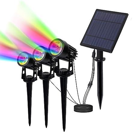 led proyector solar exterior, T-SUN foco solar led para ...