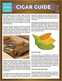 Cigar Guide (Speedy Study Guide)