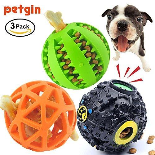 Petgin Dog Balls Indestructible Dog Toys for Boredom Durable Feeder Fetch Toys (3 Pack)