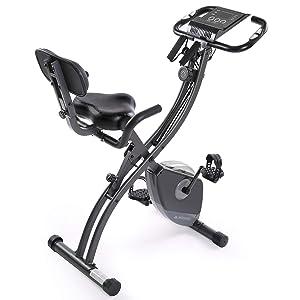 MaxKare Exercise Bike Stationary Foldable Magnetic Upright Recumbent Cycling