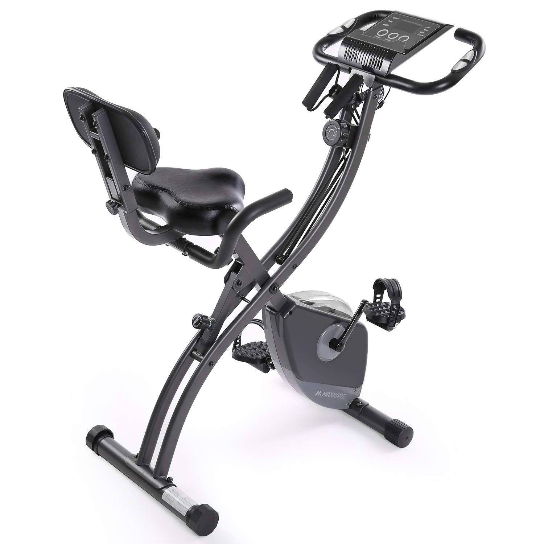 MaxKare Exercise Bike Slim Cycle Stationary Bike Folding Exercise Bike Foldable Magnetic Upright Recumbent Bike Cycling…