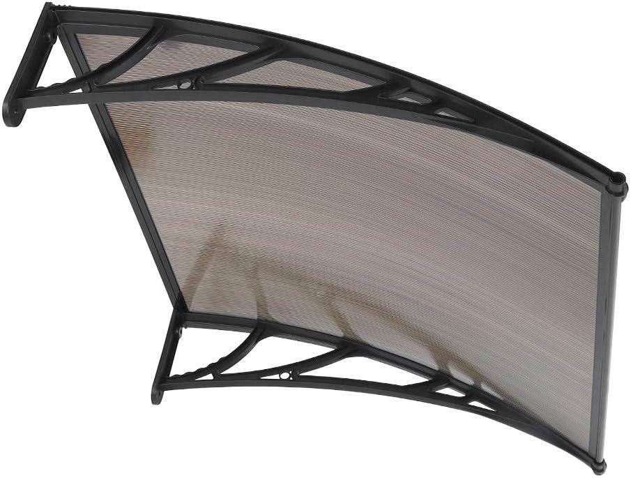 lyrlody Tejadillo de Protección 100 x 100cm, Marquesina Puerta Exterior Toldo para Puertas y Ventanas, Tablero de PC Resistencia (1#)