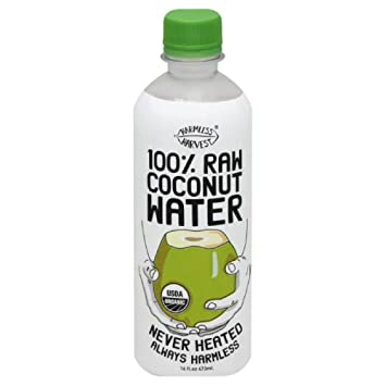 Harmless Harvest Organic 100 Percent Raw Coconut Water, 16Ounce -- 12 per  case