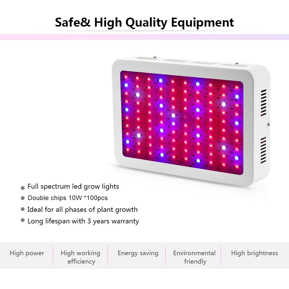 Amazon.com : LED grow light, Nexlux 1000W (100*10W) Plant Grow Light ...