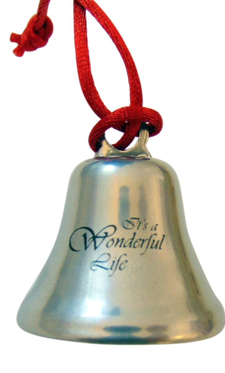 Westman Works Its A Wonderful Life Christmas Ornament Bell on Ribbon Gift Boxed Movie Souvenir