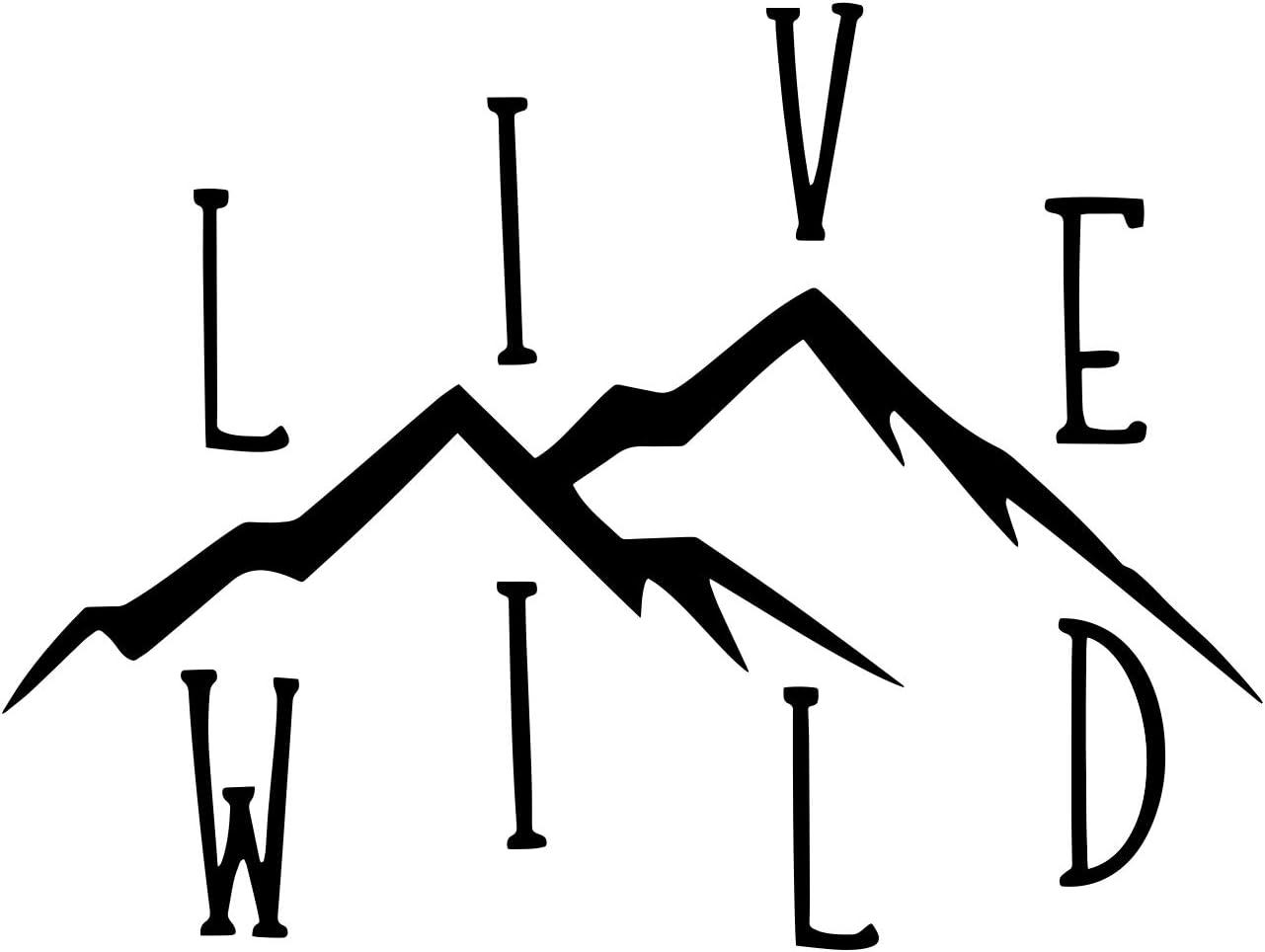 Live Wild Wanderlust Decal Vinyl Sticker Cars Trucks Vans Walls Laptop   Black   8