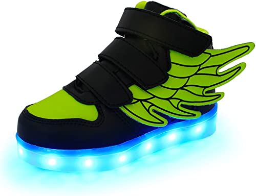 BeautyOriginal Boys Girls Full Light Flash Shoes Double Wheel USB Chargable Glowing Sneaker Breathable LED Light Casual Shoes