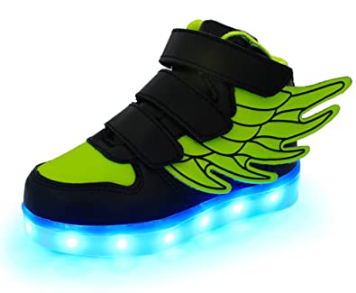 33f062c8be21 Ausom Kid Boy Girl Upgraded USB Charging LED Light Up Sport Wings Shoes  Flashing Fashion Sneakers