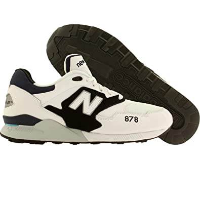 1ac1f4ff2d60b Amazon.com | New Balance Men 878 90s Running (White/Black) | Running