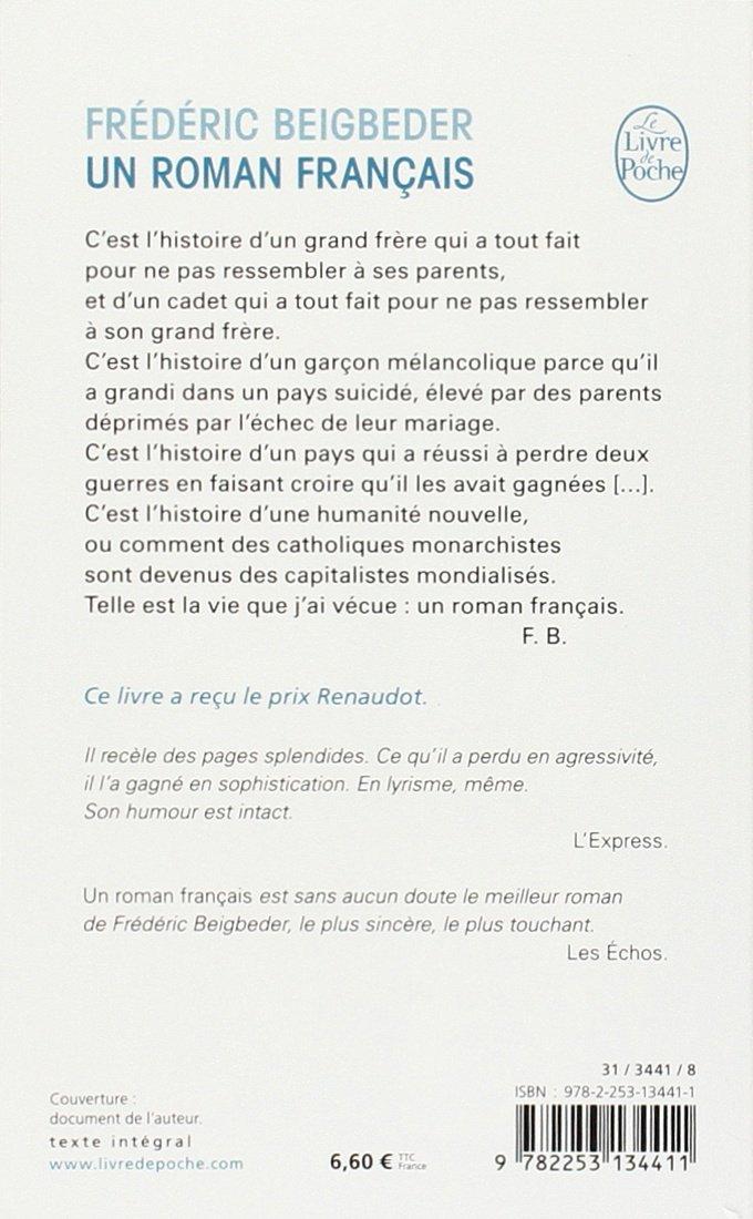 Un Roman Francais French Edition Le Livre De Poche