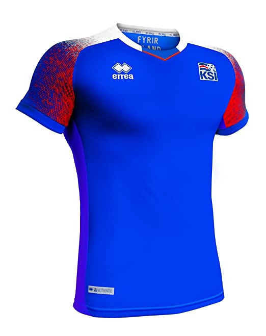 Amazon.com   Errea Iceland World Cup 2018 Official Home Jersey   Sports    Outdoors 583178a8d
