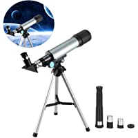 Lukzer High Power Monocular 90X Zoom Refractor Astronomical Telescope with Portable Tripod & 2 Eyepieces