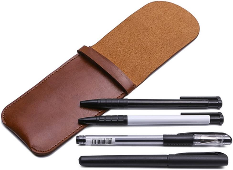 Jaune Demarkt 1 Pcs Sac de Crayon Parure Etui en Vrai Cuir Portatif Trousse /Étui de Protection pour Stylo Bureau de L/école dart Doux Sac de Papeterie
