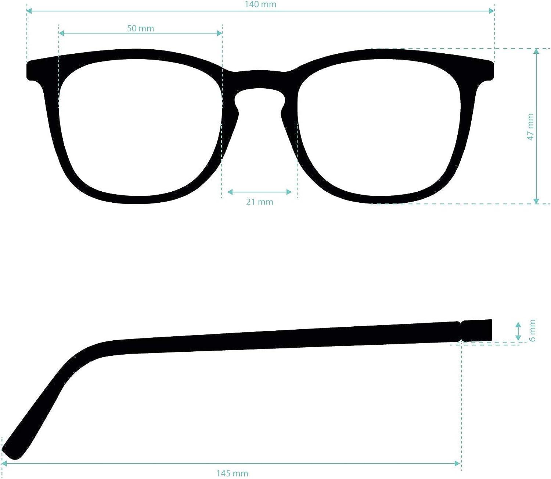 Montatura per Computer PC TATE Aste Flessibili e Lenti Antiriflesso Tocco di Gomma Monitor o Gaming Occhiali da Lettura o Vista Anti Luce Blue per Uomo o Donna 6 colori e 5 Diottrie