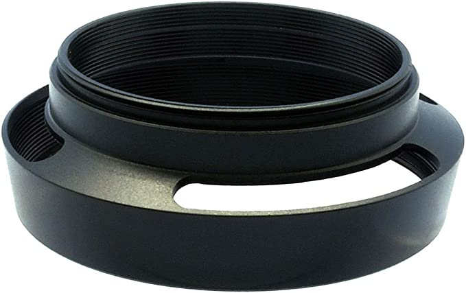 Gadget Place Black Vented Metal Lens Hood with Cap for Leica Summicron-T 23mm f//2 ASPH