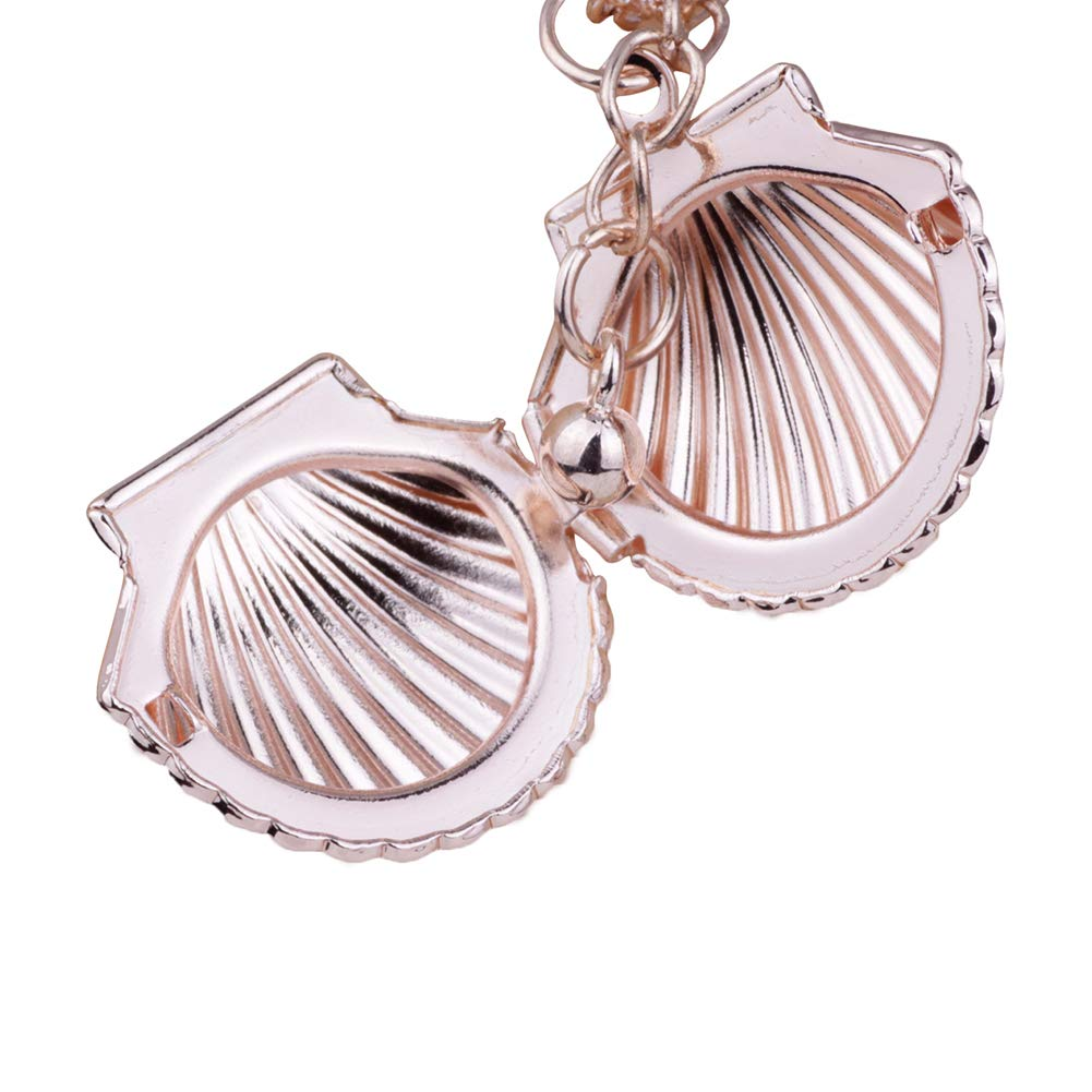 KINJOHI Fashion Sea Shell Pendant Necklace Openable Creative Sweet Beach Necklace Women Jewelry