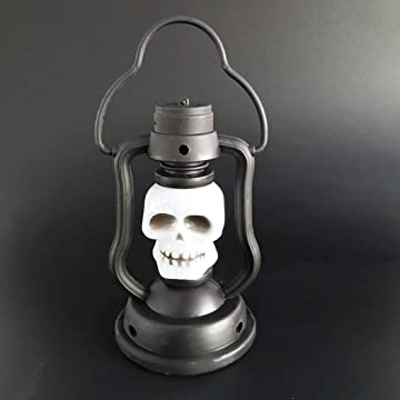 Asatr Halloween Portable LED Night Light Colorful Kerosene Lamp Decorative Props Night Lights