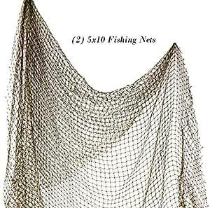 Decorative fish net fishnet 5x10 new sports for Amazon fishing net