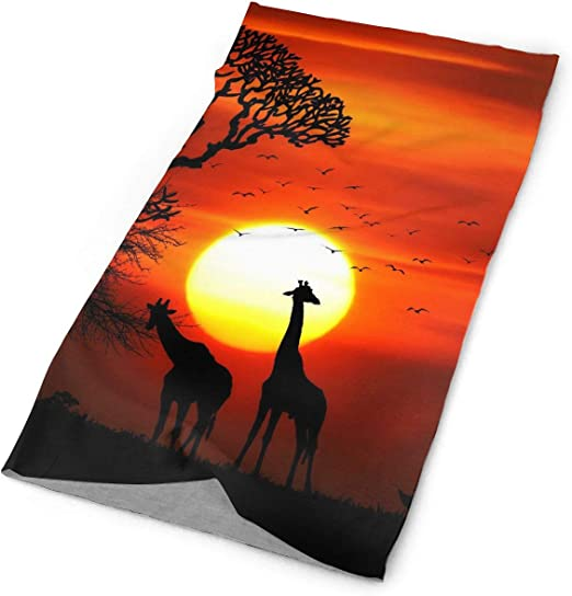 Giraffe Colorful Bright Head Unisex Fashion Quick-Drying Microfiber Headdress Outdoor Magic Scarf Neck Neck Scarf Hooded Scarf Super Soft Handle