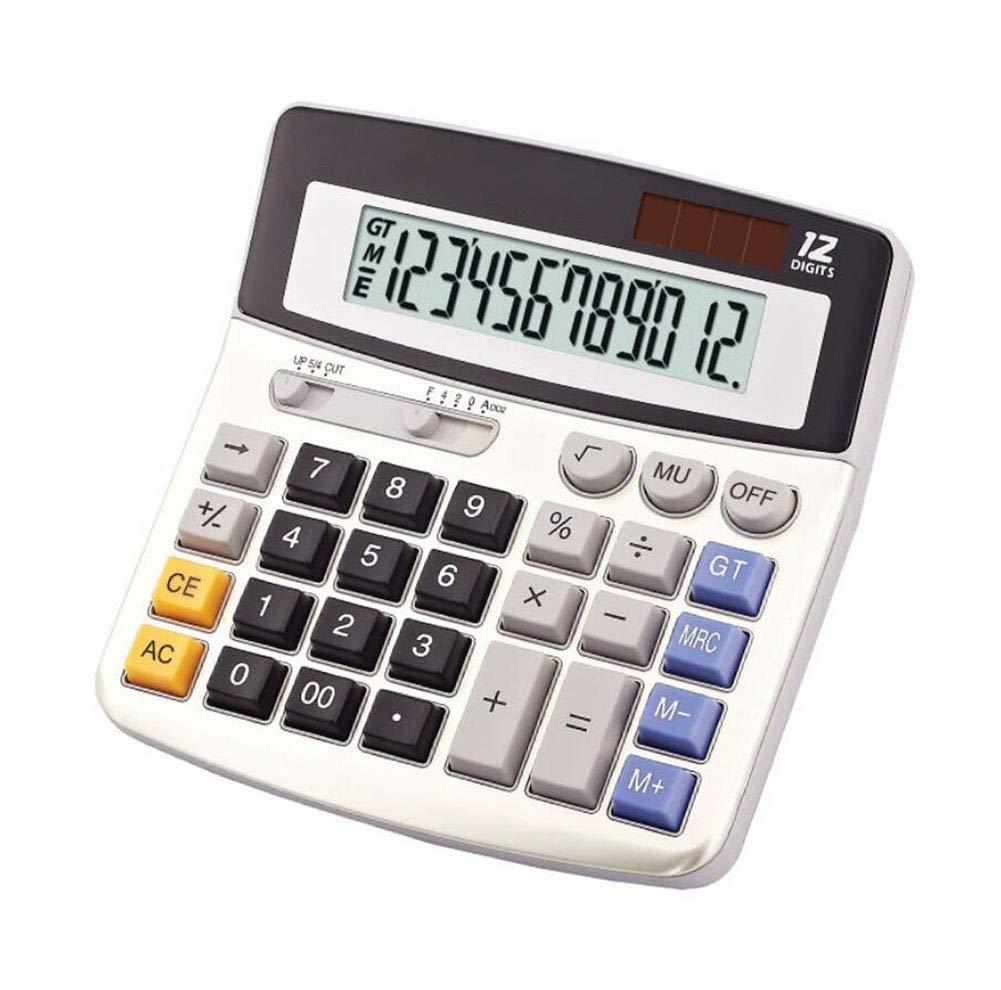 Calculadora de mesa para ordenador solar, doble alimentador, 12 ...
