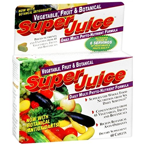 Super Juice Vegetable and Fruit Daily Multi Phyto-Nutrient Formula, 60 (Fresh Fruit Juices)