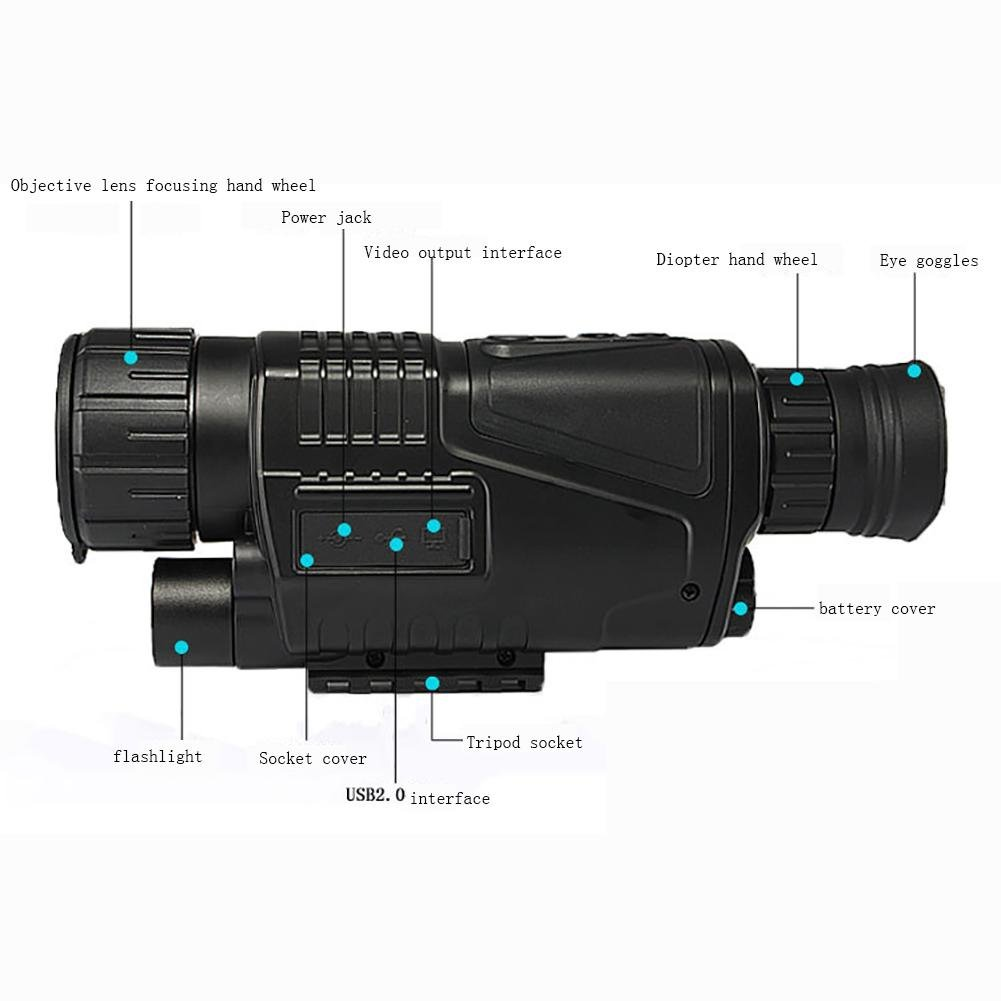 MIAO High - Definition Car Infrared Shimmer Digital DV Day and Night Dual - Use Night Vision Binoculars Can Take Pictures and Video by miaomiao (Image #2)