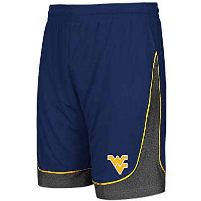 West Virginia Mountaineers Men's Colosseum Synthetic Shorts-Commando-Blue
