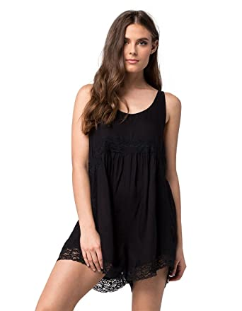 dba70fd440f7 Amazon.com  Volcom IN MY LANE ROMPER Size XS Color BLACK  Clothing